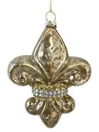 mercury glass fleur de lis ornament fleurty