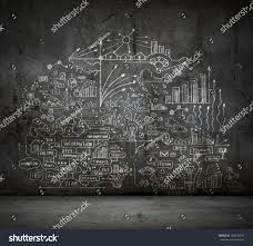 business sketch ideas against dark wall stock photo 148342013