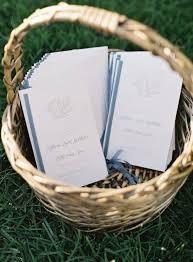 wedding program basket wedding at pippin hill farm vineyards tenn hens design
