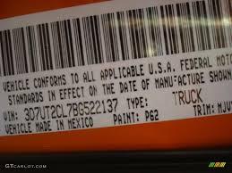 2011 ram 2500 hd color code p62 for omaha orange photo 42714416