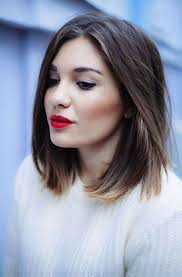 can fine hair be cut in a lob corte long bob castaño labios rojos beauty pinterest hair