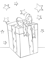 christmas gift box coloring free printable coloring pages