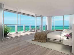 slick wooden floor beach themed bedroom blue patterned lounge