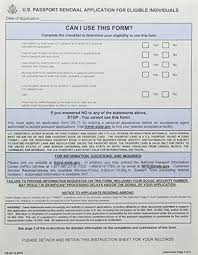 passport renewal form passport renewal application form