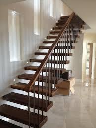 Grey Walls Wood Floor by Ideas Impressive Black Wood Modern Stair Railings And Mesmerizing