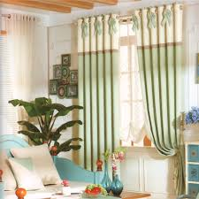 Green And Beige Curtains Light Green Color Country Window Curtains