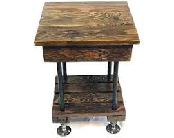 rustic end tables cheap rustic end table etsy