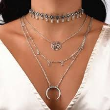 necklace trendy images 2018 new fashion necklace trendy jewelry moon multilayer stone jpg