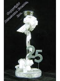 25th Wedding Anniversary Table Centerpieces by 25th Elegance Centerpiece