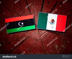 Lybian Flag Libyan Flag Mexican Flag On Tree Stock Foto 690159289 Shutterstock