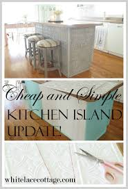 Kitchen Islands Com by Faux Tin Ceiling Tiles Kitchen Island White Lace Cottage
