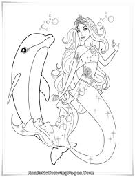 8 best images of realistic mermaid coloring pages printable