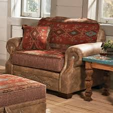 southwestern chairs and ottomans ranchero southwestern chair and a half