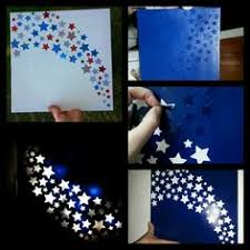 pictures with lights behind them a canvas nightlight for a childs room or a bathroom 1 used star