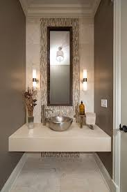 Modern Powder Room - george morlan plumbing for a contemporary powder room with a beige