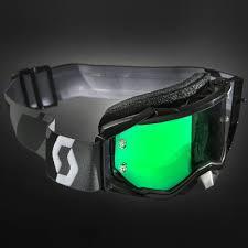 scott prospect motocross goggle 2018 scott prospect black green chrome goggles at mxstore