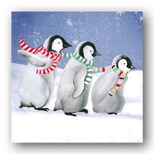 pack of 8 playful penguins cards dormouse cards