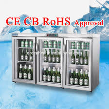 mini bar refrigerator glass door under counter back bar cooler used stainless steel mini bar