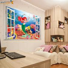 Online Get Cheap Mermaid Wall Sticker Aliexpresscom Alibaba Group - Cheap wall stickers for kids rooms