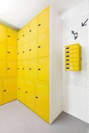 locker siege social wayfinding system and environmental design locker room at
