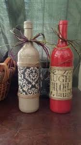 Wine Bottle Halloween Crafts by 51 Best Wine Bottles Images On Pinterest Decorated Bottles