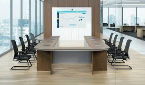 Detachable Conference Table 16 Seat U Shape Meeting Table With Wire Management S Cabin