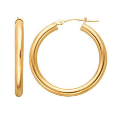 gold hoops earrings 14k gold hoop earrings 3mm x 30mm sam s club