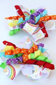 ribbon hair bows how to make curly ribbon hair bows glorious treats