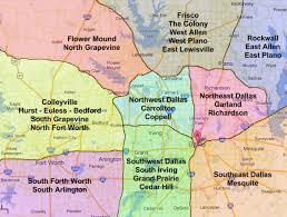 map of dallas fort worth dallas estate market and trends