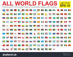 Country Code Flags Flags All Countries World All Sovereign Stock Vector 714969703