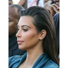 beautifyl haircuts hair behind the ears photos the hair evolution of kim kardashian over the last 10 years allure