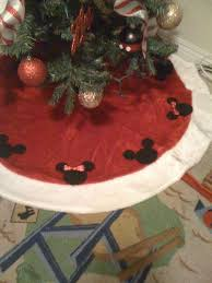 christmas mickey and minnie mouse tree skirt tutorial youtube