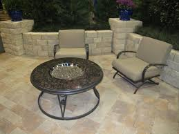 exterior how to lay pavers with stone floor and beige armchairs