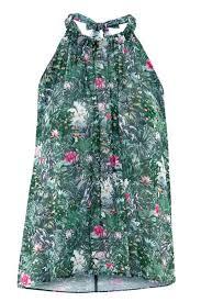 green chiffon blouse green chiffon floral print sleeveless blouse womens shirts