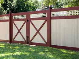 brown wooden fence color idea 4 home ideas