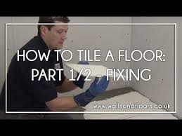 How To Tile A Floor How To Tile A Floor 1 2 Fixing The Floor Tiles Youtube