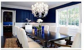 chair rail dining room bedroom awesome navy blue room with chair rail white and blue