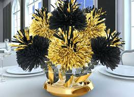 black and gold birthday centerpieces black and gold wedding