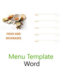 editable menu templates free menu templates blank restaurant sles for word