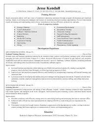 training resume sample trainer resume sample unforgettable
