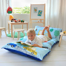 pillow bed for kids amazon com kid s floor pillow bed cover use as nap mat portable