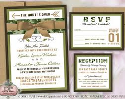 Camo Wedding Invitations Camo Wedding Invite Etsy