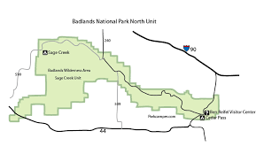 badlands national park map badlands national park cing