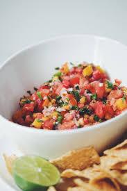 watermelon peach salsa for food
