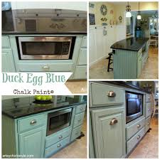 painting kitchen island sloan chalk paint duck egg blue with wax chalk paint