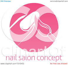clipart of a round pink nail polish manicure logo with sample text