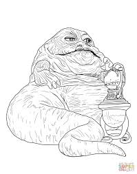jabba hutt coloring free printable coloring pages