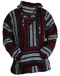 baja sweater mens amazon com baja hoodie sweater jerga pullover gray