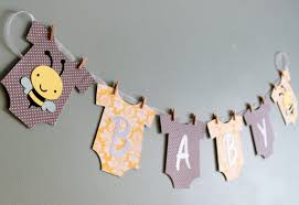 baby shower banners bumble bee baby shower banner yellow and gray bumble bee