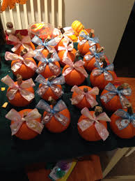 fall themed gender reveal party idea easy to make little pumpkins